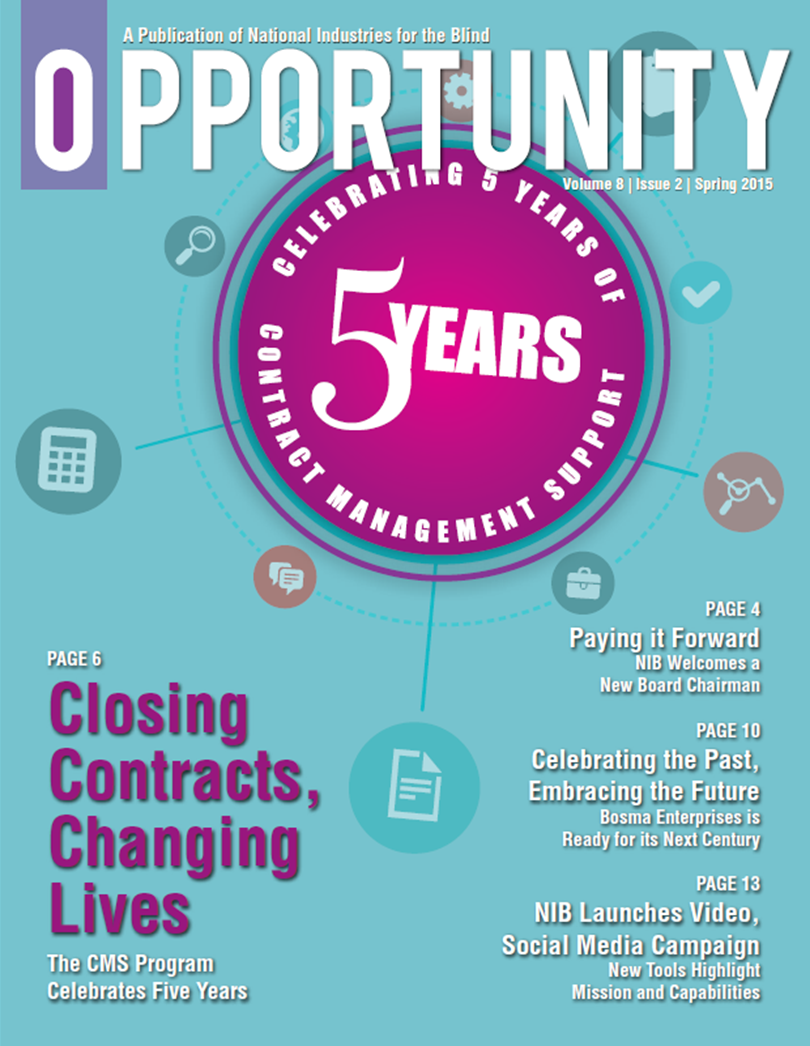 Opportunity Magazine Cover - Spring 2015
