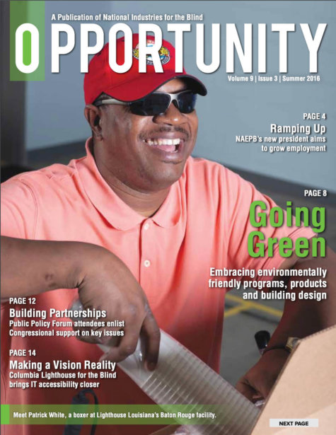 Summer 2016 Opportunity Magazine featuring Going Green