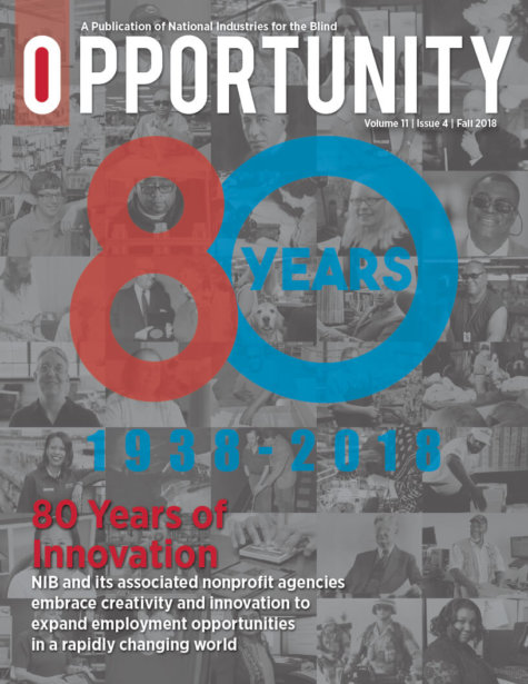 Fall 2018 Opportunity Magazine featuring 80 Years of Innovation