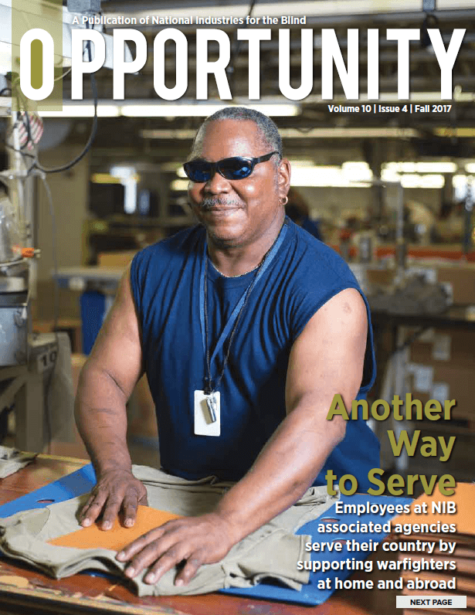 Fall 2017 Opportunity Magazine featuring Another Way to Serve