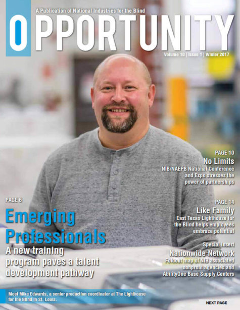 Winter 2017 Opportunity Magazine featuring Emerging Professionals