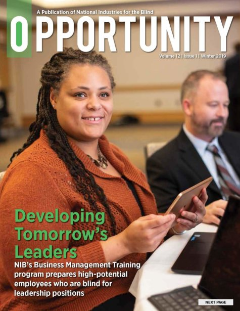 Winter 2019 Opportunity Magazine cover featuring Developing Tomorrow's Leaders