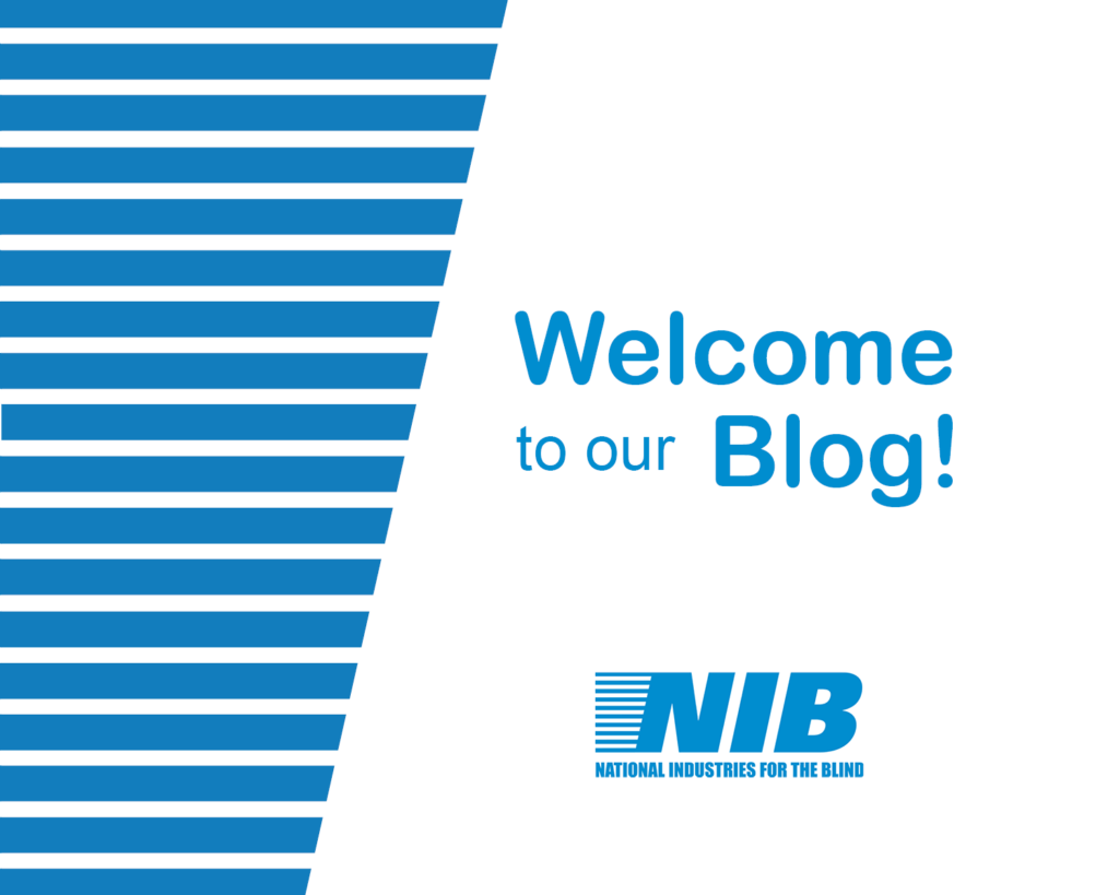 NIB logo with welcome to our blog text