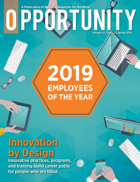 Cover of Opportunity magazine with graphic that reads 2019 Employees of the Year