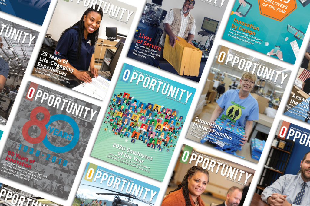 A collage of different Opportunity magazine covers